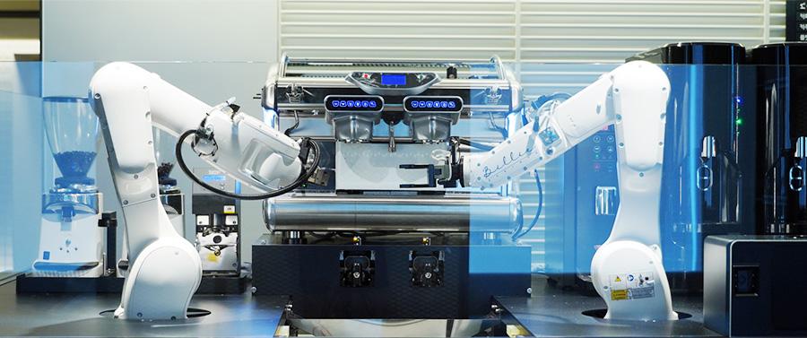 지난달5일 현대카드 카드팩토리 내 팩토리카페에서 일을 시작한 바리스타 로봇 빌리.