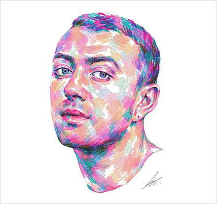 '현대카드 샘스미스 그리기 대회' 참여작 투표에서 우승한 인스타그램 아이디@libere_nuage의 작품