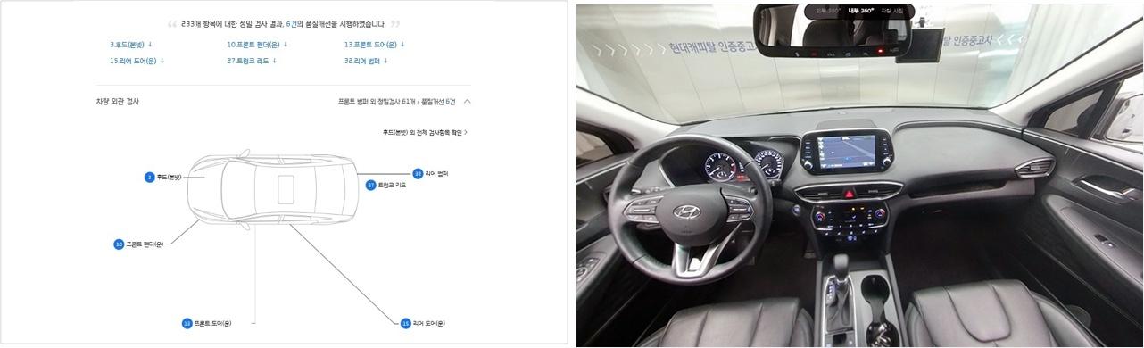 현대캐피탈 인증중고차는 차량의 모든 이력과 차량 내∙외부 사진을 보기 쉽게 제공해 고객의 정보 습득을 돕는다. (출처=현대캐피탈 인증중고차 홈페이지 캡처)
