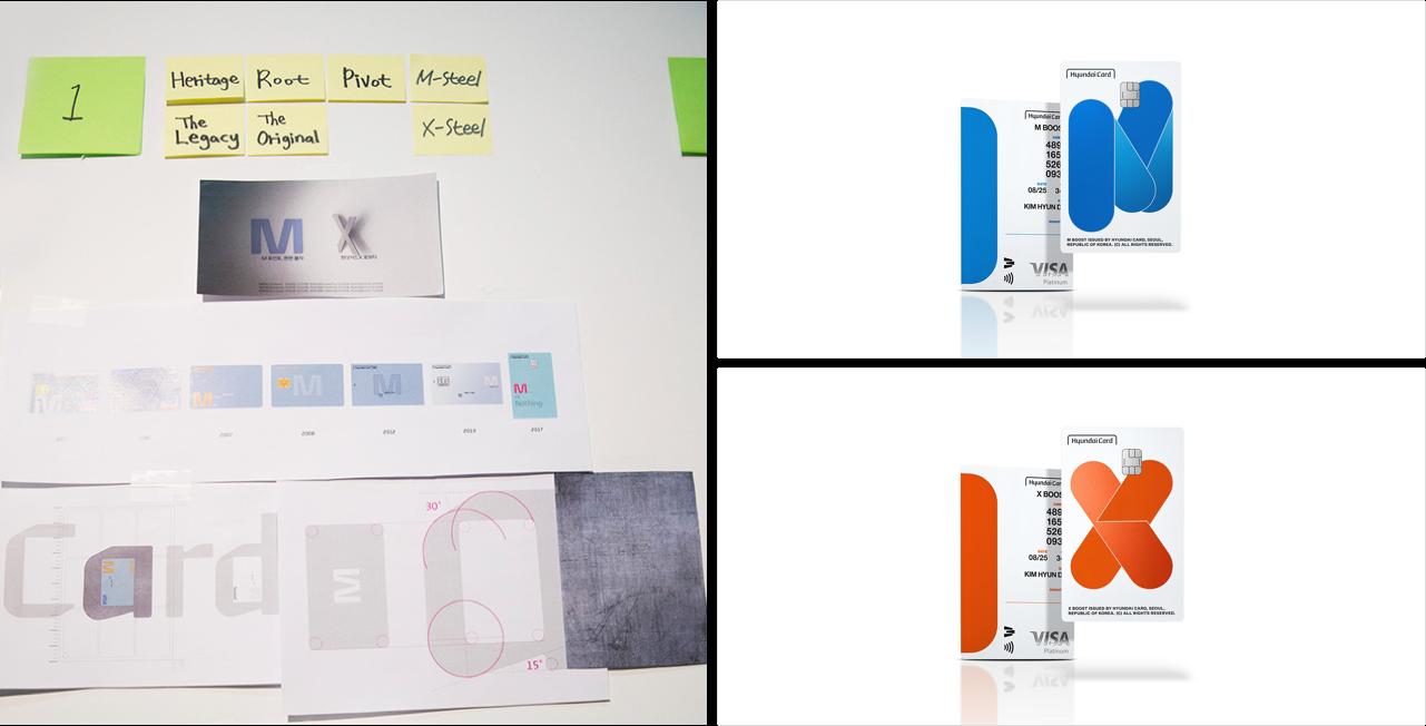 MX Fluffy, MX Charger, MX Steel 등의 디자인은 오리지널 상품으로서 현대카드 M과 현대카드 X가 가진 가치를 계승하는 방향으로 기획됐다