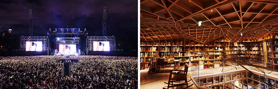 현대카드 슈퍼콘서트 24 Kendrick Lamar(좌), 현대카드 트래블 라이브러리(우)