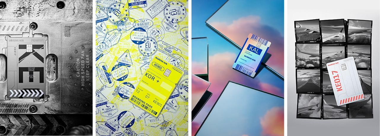 올해4월 공개된 '대항항공카드'는 파트너 브랜드의 기존 이미지를 그대로 구현하는 대신,새로운 이미지를 발견하고 제안하는PLCC디자인의 기준을 세웠다.