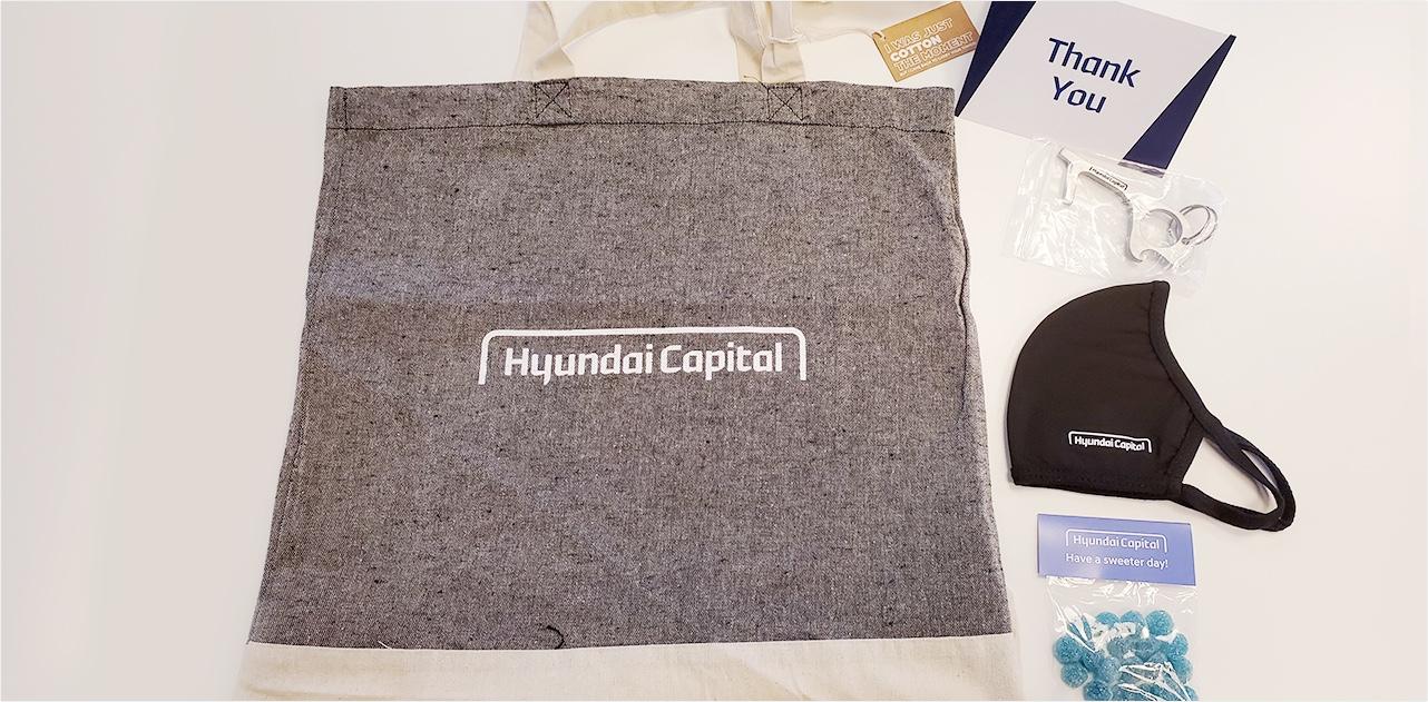 현대캐피탈 캐나다(HCCA)는 전직원 대상으로 친환경 코로나19 케어 패키지를 전달했다.