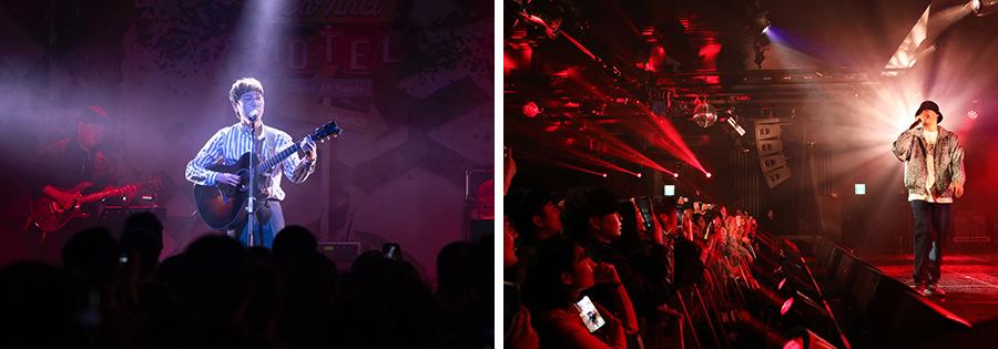 다빈치모텔에서는 장범준,이센스 등 한국 대중음악의 르네상스를 이끄는 아티스트들의 공연이 펼쳐졌다.