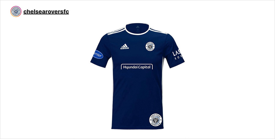 Chelsea Rovers' official uniform from its official Instagram account