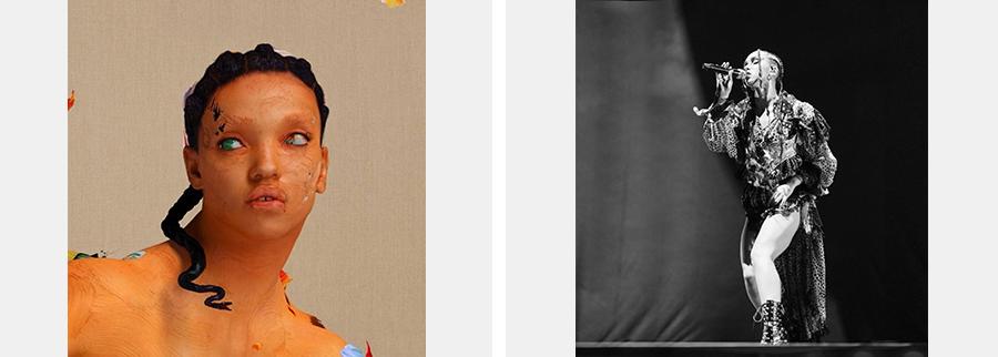 (왼쪽) FKA twigs, 〈MAGDALENE〉 앨범 커버(출처=멜론) (오른쪽) FKA 트위그스(출처=FKA 트위그스 공식 페이스북 'FKA twigs')
