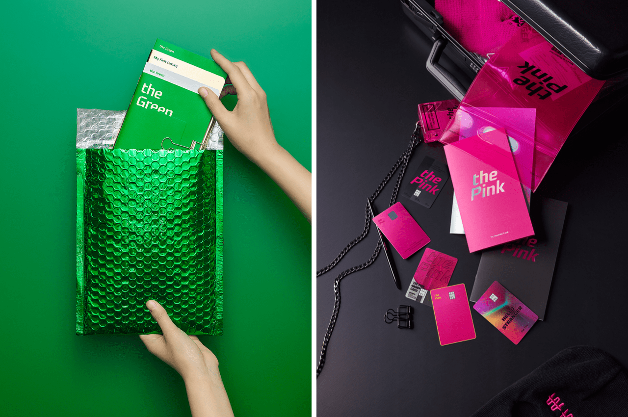 the green카드와 the pink 카드 이미지