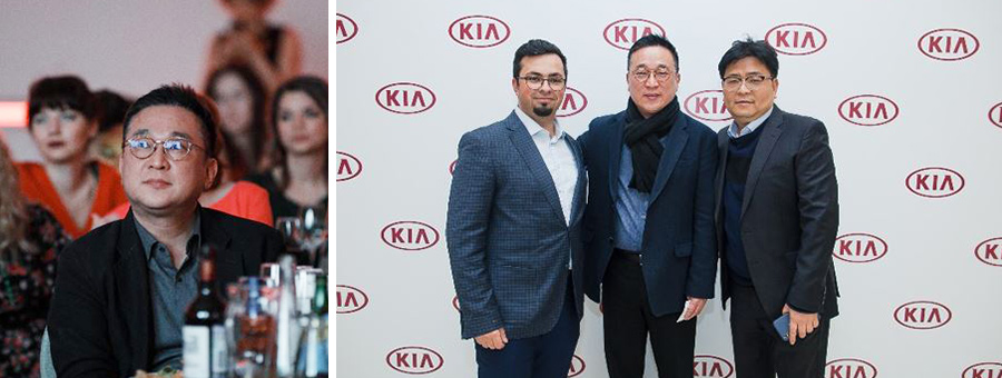 Jaewon Lee and HCR employees participating in a year-end event hosted by Kia Motors Russia