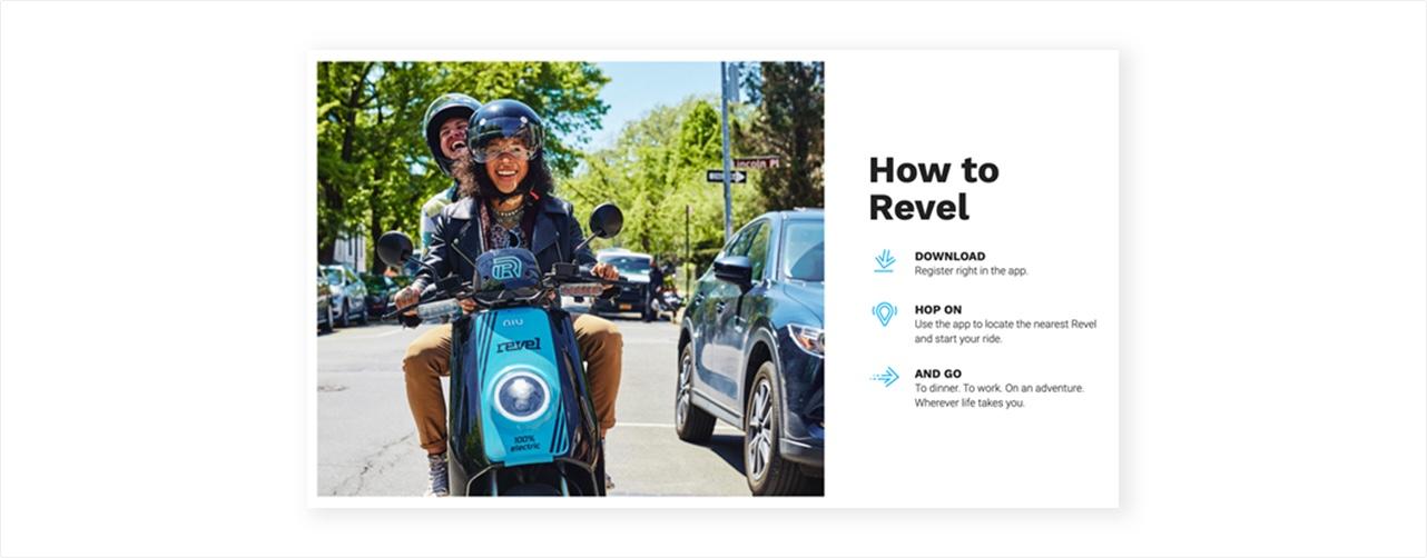 뉴욕에서 서비스를 시작한 공유 오토바이 레벨 (출처=레벨 홈페이지)
