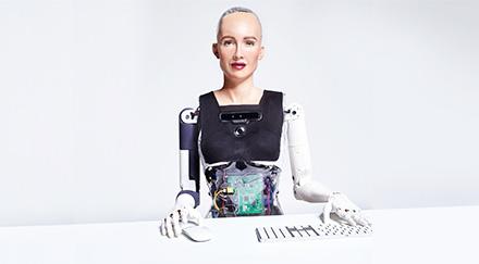미국 핸슨로보틱스가 개발한 휴머노이드 로봇 소피아. (출처=hansonrobotics.com캡처)