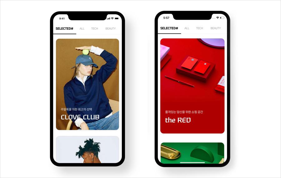 현대카드 M포인트몰은 리뉴얼 과정에서 현대카드가 엄선한 제품으로 구성된 섹션인 셀렉티드샵을 강화하는 한편, 셀렉티드샵 내에 the Red, the Green 회원만을 위한 특별 전용관을 마련했다.
