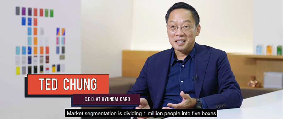Hyundai Card Vice Chairman Ted Chung explains the limitations of market segmentation method, during an interview with the New York Times. (Source=The New York Times YouTube screen capture)