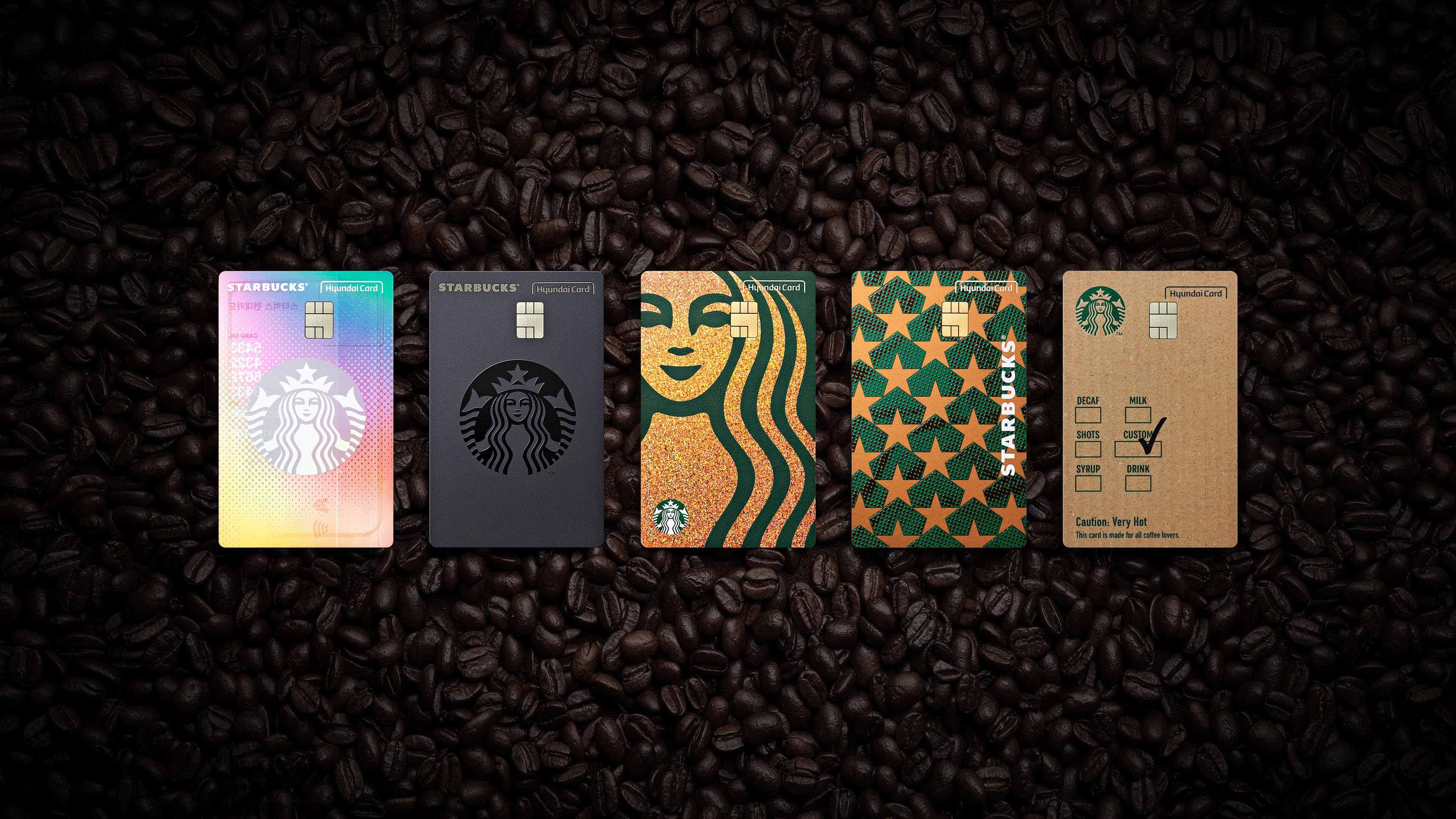 Starbucks Hyundai Card comes with star-studded benefits